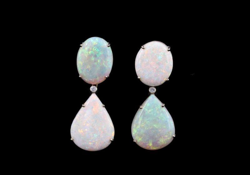 Boucles d'oreilles opales d'Australie