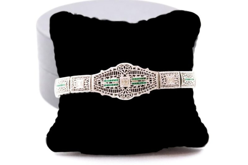 Bracelet 1925 diamants émeraudes