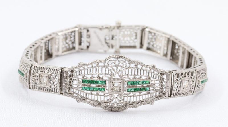 bracelet-diamant-émeraudes