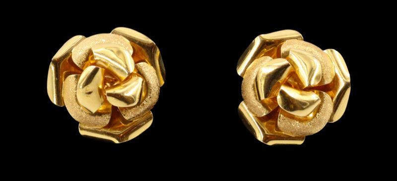 Boucles d'oreilles roses or