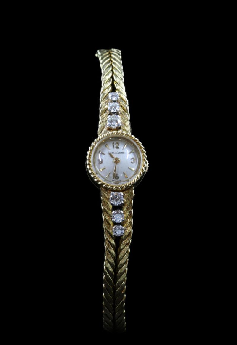 montre dame or diamants jaeger lecoultre