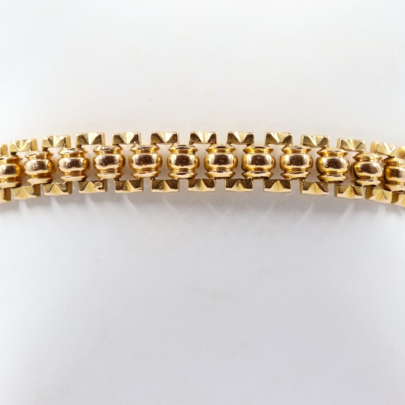 Bracelet souple or rose