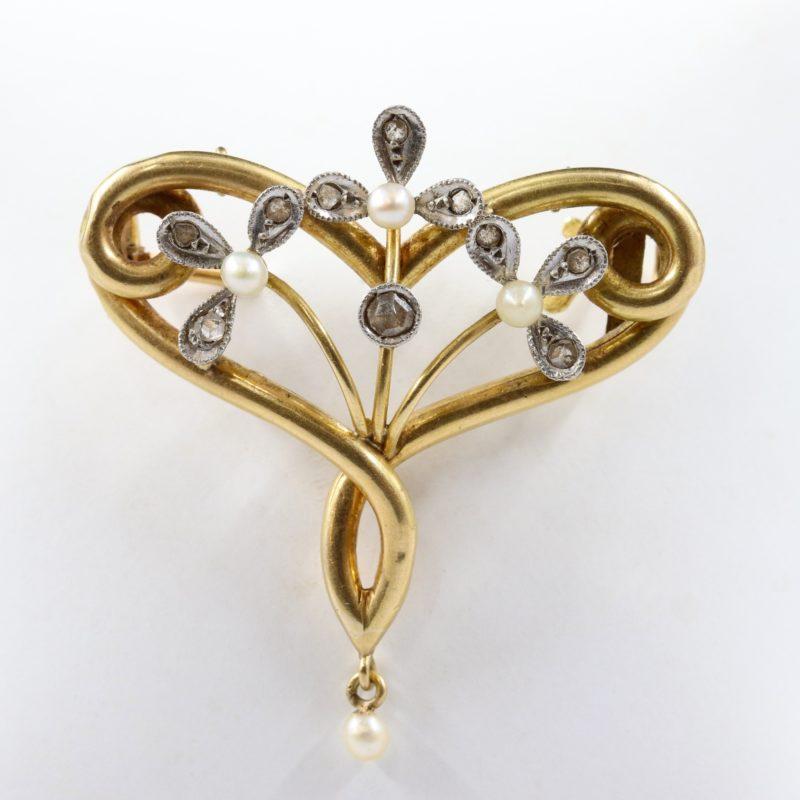 Broche pendentif fin XIXe