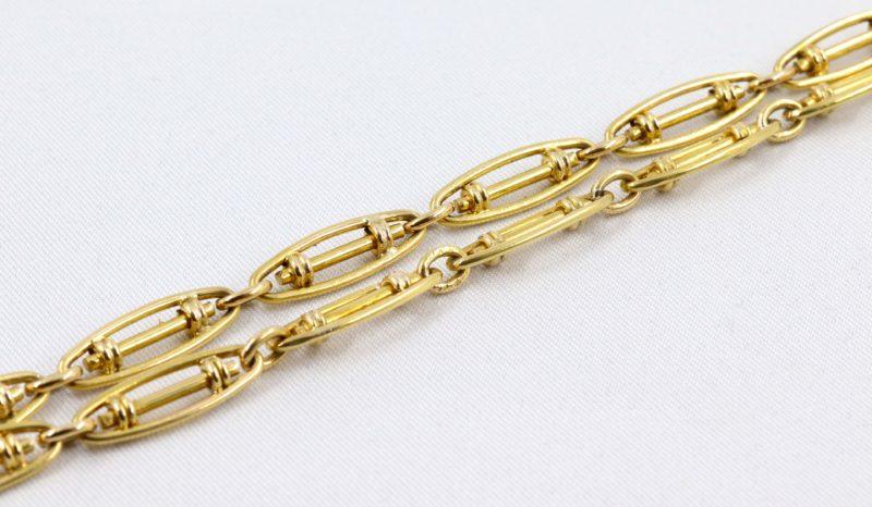 Belle chaîne de montre or jaune