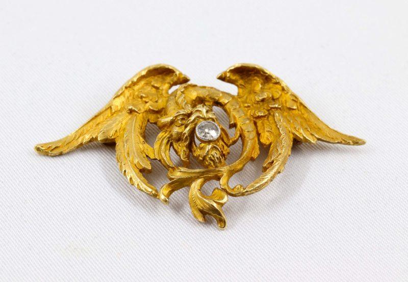 Belle chimère 1900 or et diamant