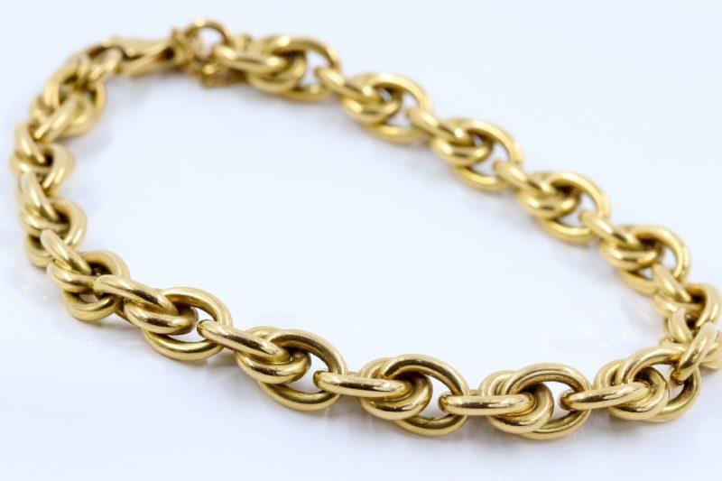 Bracelets maillons ronds en or ok