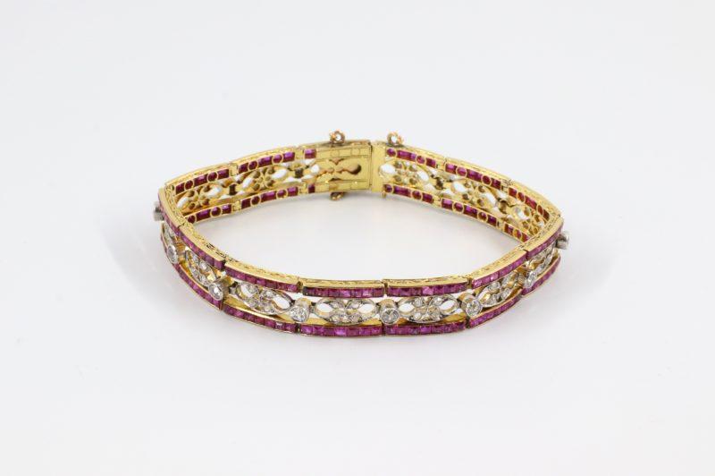 Bracelet 1925 rubis et diamants
