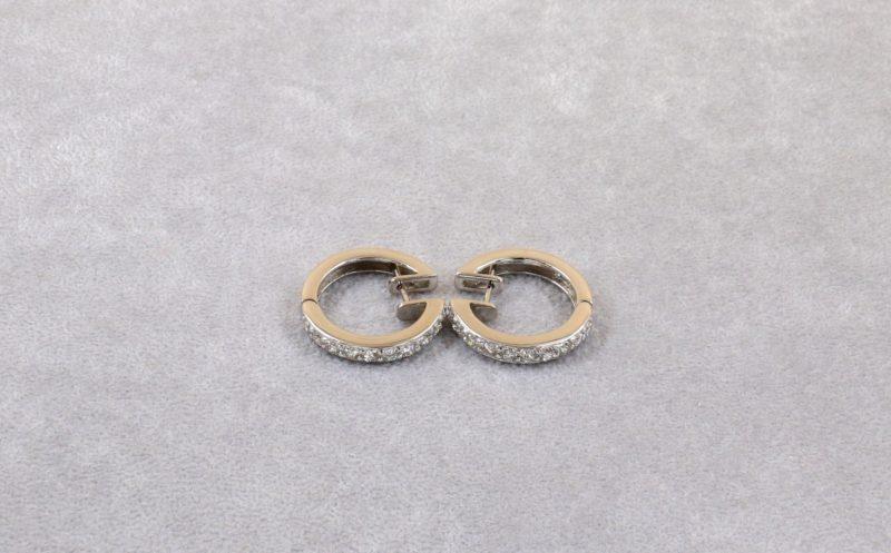 Boucles d'oreilles créoles diamants