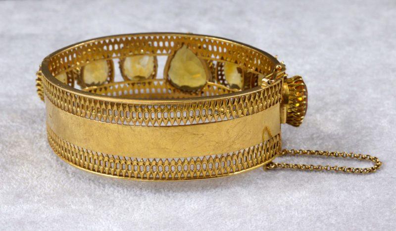 Bracelet ancien or et citrines