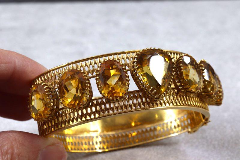 Bracelet importantes citrines Napoléon III