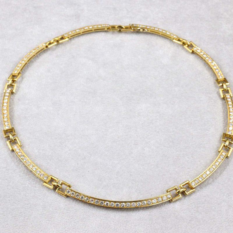 collier plaquettes diamants